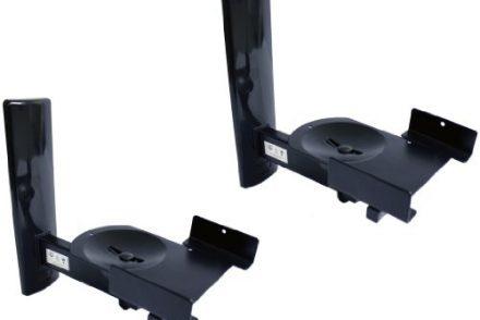 B-Tech BT77 Ultragrip ProTM uchwyt naścienny na głośniki do 25 kg, uchylne i obracane, czarne, 1 para BT77 BLACK
