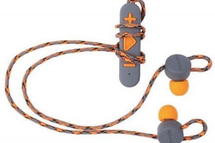Boompods Retrobuds szaro-pomarańczowe