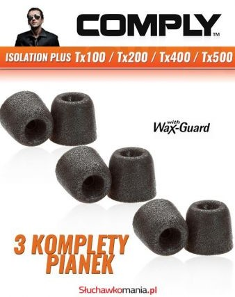 Comply Pianki Isolation Plus Tx100 Comfort Isolation Tx100