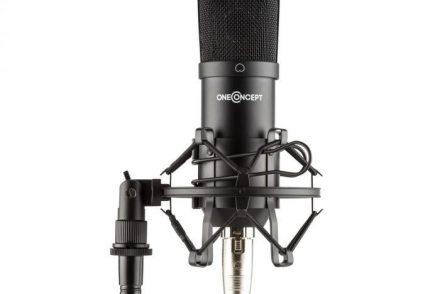 OneConcept OneConcept Mic-700 Mikrofon studyjny  34 mm jednokierunkowy uchwyt/pająk mikrofonowy osłona przed wiatrem XLR czarny BTF11-Mic-700, bk