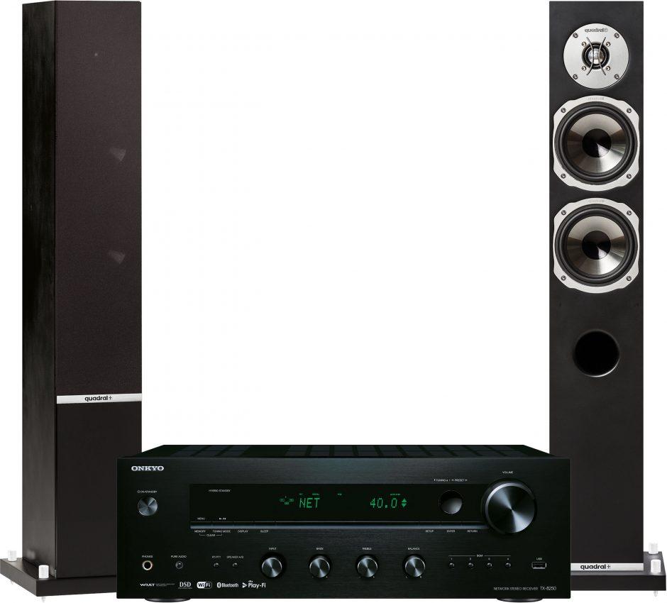 Onkyo Zestaw stereo TX-8250B + QUADRAL Rhodium 500 Czarny TX-8250 CZARNY + KOL TX-8250 CZARNY + KOL