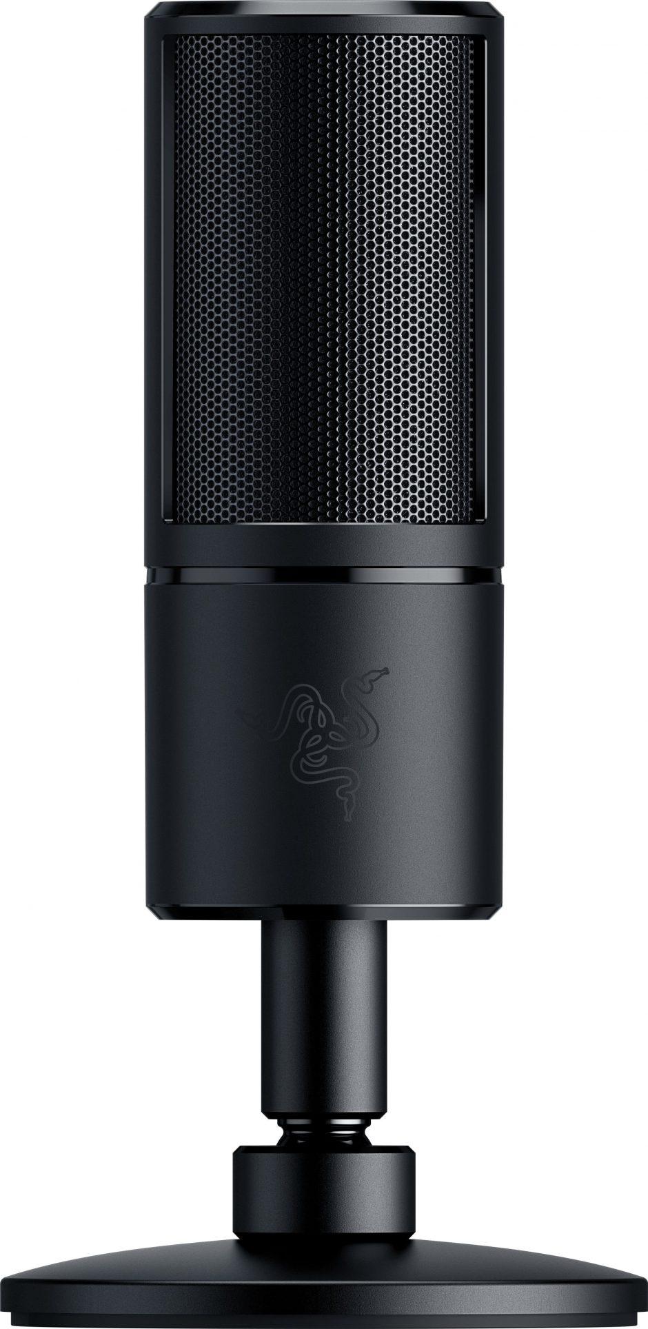 Razer Seirn Xze wzorem nagrywania kondensator-mikrofonu (dla przesyłania strumieniowego, subtelna streamer mikrofon z wbudowanym wstrząs i amortyzatory Super nerek USB) 8886419377573