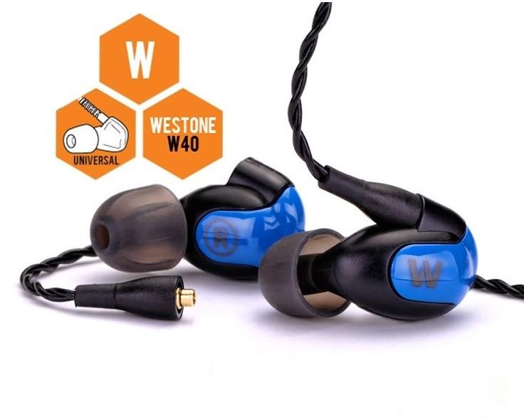 Westone W40 czarno-niebieskie