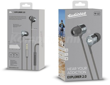 Audictus Explorer 2.0 z mikrofonem szare