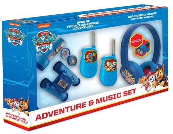 EKIDS Psi Patrol Zestaw przygoda 5w1 latarka kompas lornetka walkie talkie słuchawki PW-V302