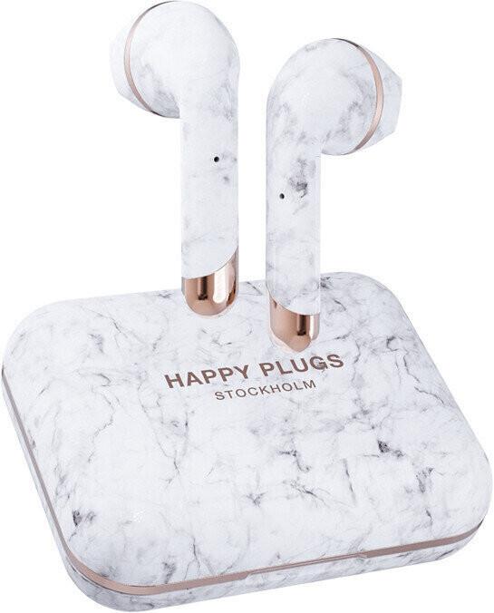 Happy Plugs Air 1 Plus Biały Marmur