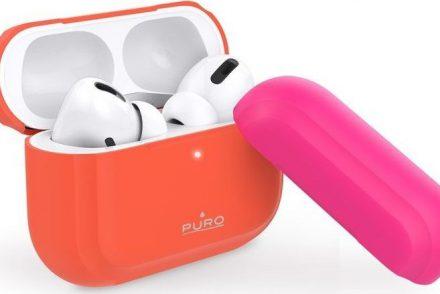 Puro PURO ICON Fluo Case Etui do Airpods Pro z dodatkową osłonką Fluo Orange + Fluo Fuchsia Cap uniwersalny 67936-uniw
