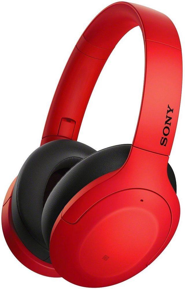 Sony WH H910N czerwono-czarne