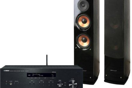 Yamaha Zestaw stereo R-N303D + Pure Acoustics NOVA 6 Czarny + Dogodne raty! RN 303D CZARNY+NOVA6 RN 303D CZARNY+NOVA6