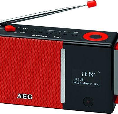 AEG DAB 4158DAB + radio w zestawie z radiem PLL FM Radio, Bluetooth, wejście AUX-IN, RDS, akumulator/bateria-/zasilanie prądem przemiennym Czerwony/czarny DAB 4158