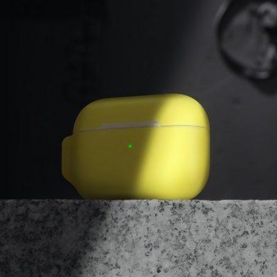 Apple Baseus Baseus Let''s go | Silikonowa obudowa etui case do Air Pods | żółty WIAPPOD-D0Y