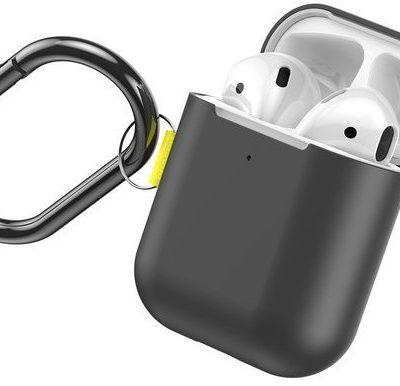 Apple Baseus Baseus Let's go Woven Label Hook   Etui case obudowa do słuchawek Airpods 1 / 2   szary WIAPPOD-CGY