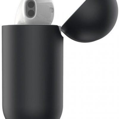 Baseus Baseus Super Thin   Etui silikonowe case pokrowiec na słuchawki AirPods 2gen / 1gen   czarny WIAPPOD-BZ01