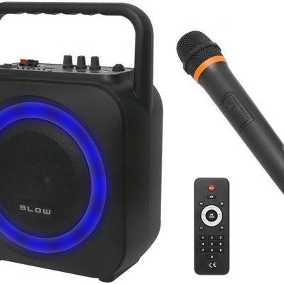BLOW Zestaw Karaoke Głośnik + Mikrofon USB BT Pilot 30-350#