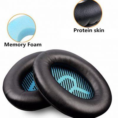 BOSE W celu uzyskania skóra proteinowa piankowe gąbki słuchawek poduszki dla dla Quietcomfort 2 QC25