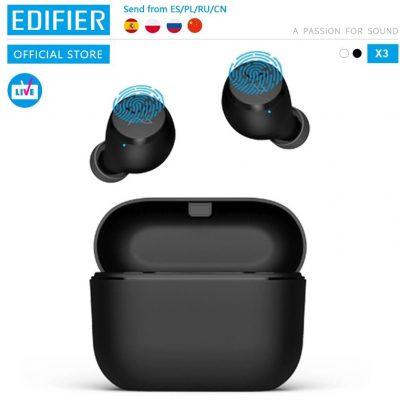 Edifier null X3 TWS bezprzewodowe słuchawki Bluetooth bluetooth 5.0 asystent głosowy sterowanie dotykowe