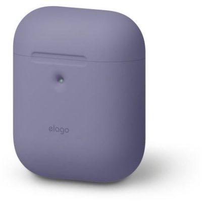 Elago Elago AirPods 2 Silicone Case - etui do AirPods 2 szare lawendowe EAP2SC-LVG