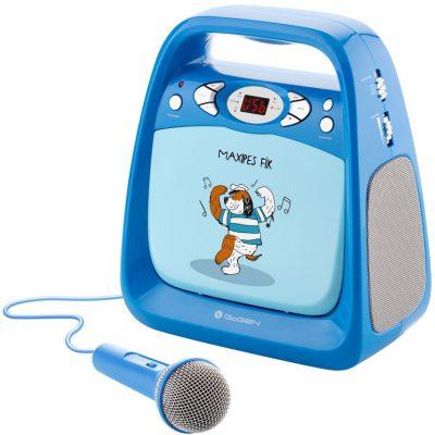 GoGEN Odtwarzacz CD/mp3 i mikrofonem funkcją karaoke dla dzieci - niebieski