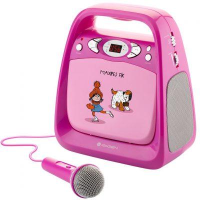 GoGEN Odtwarzacz CD/mp3 i mikrofonem funkcją karaoke dla dzieci - różowy