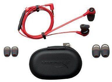 HyperX Cloud Earbuds czerwono-czarne