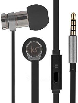 KitSound Nova in-ear Słuchawki z mikrofonem do smartfona lub tabletu, czarny KSNOVBK