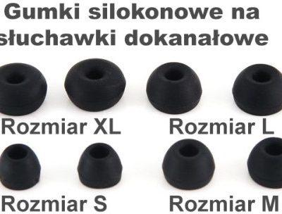 MP3store Gumki Silikonowe T200 Rozmiar XL black 2012400738020152623