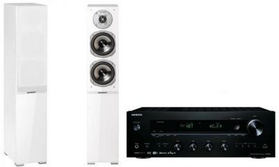 Onkyo TX-8250B + QUADRAL Argentum 550 Biały