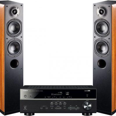 RX-V385 czarny) + NOTA 550 orzech)