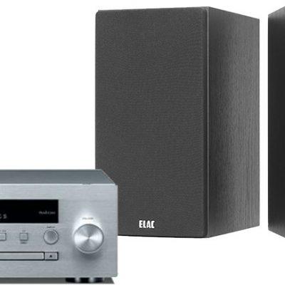 Yamaha MCR-N470D Srebrny + ELAC Debut 2.0 B5.2