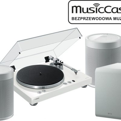 Yamaha MusicCast Vinyl 500 biały) + 2x MusicCast 20 biały) + SUB 100 bia